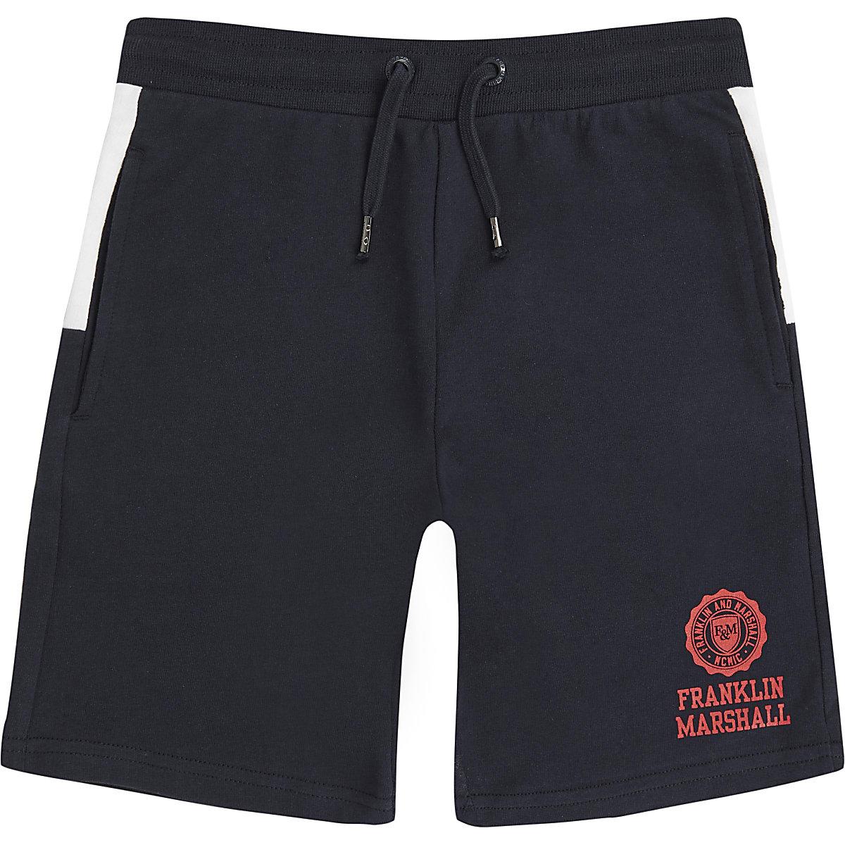 Boys Franklin & Marshall colour block shorts