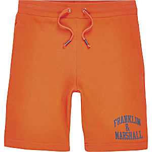 Franklin & Marshall – Jerseyshorts in Orange