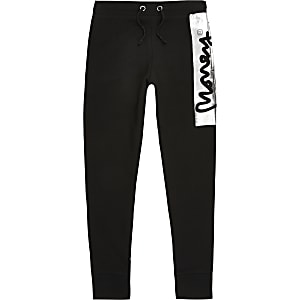 Boys Money Clothing black signature joggers