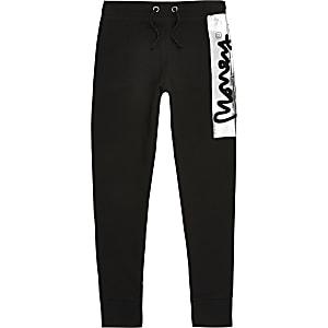 Money Clothing - Zwarte kenmerkende joggingbroek voor jongens