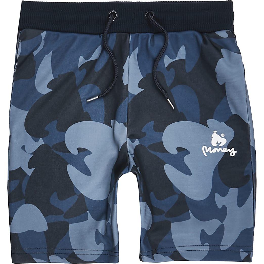 Boys navy camo jersey shorts