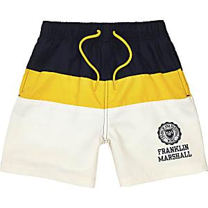 Boys navy Franklin & Marshall swim shorts
