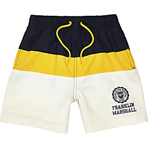 Boys navy Franklin & Marshall swim trunks