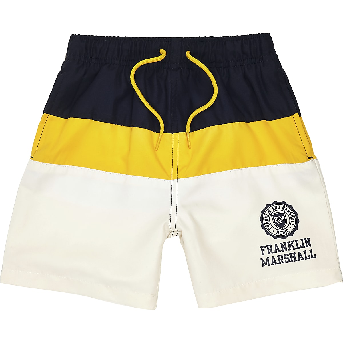 Boys navy Franklin & Marshall swim shorts