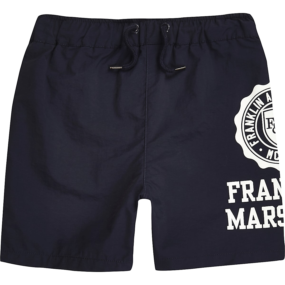 Boys Franklin & Marshall navy swim shorts