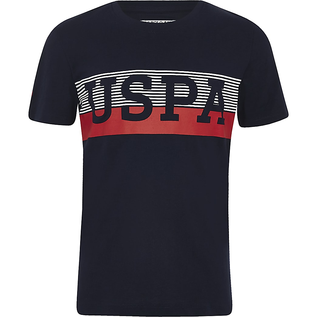 U.S. Polo Assn. - Marineblauw T-shirt