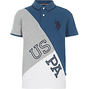 Boys blue U.S. Polo Assn. polo shirt