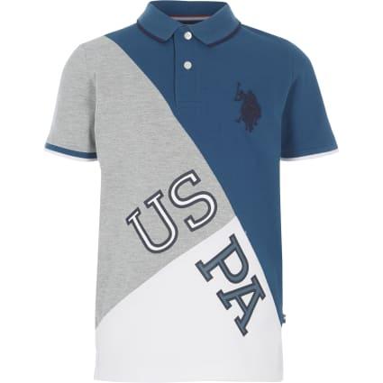 Boys blue U.S. Polo Assn. polo shirt