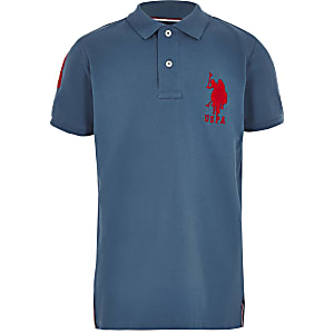 Boys blue U.S. Polo Assn polo shirt