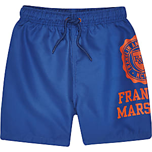 Boys blue Franklin & Marshall swim shorts