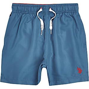 U.S. Polo Assn. - Blauwe zwemshort voor jongens