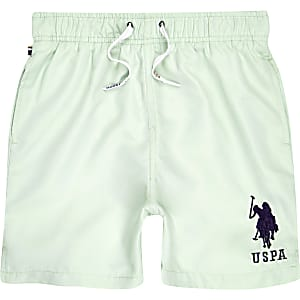 Boys U.S. Polo Assn. blue swim trunks