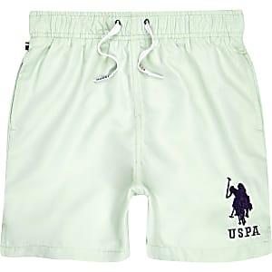 U.S. Polo Assn. – Short de bain bleu pour garçon