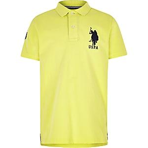 U.S. Polo Assn. – Gelbes Polohemd