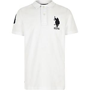 U.S. Polo Assn. - Wit poloshirt voor jongens