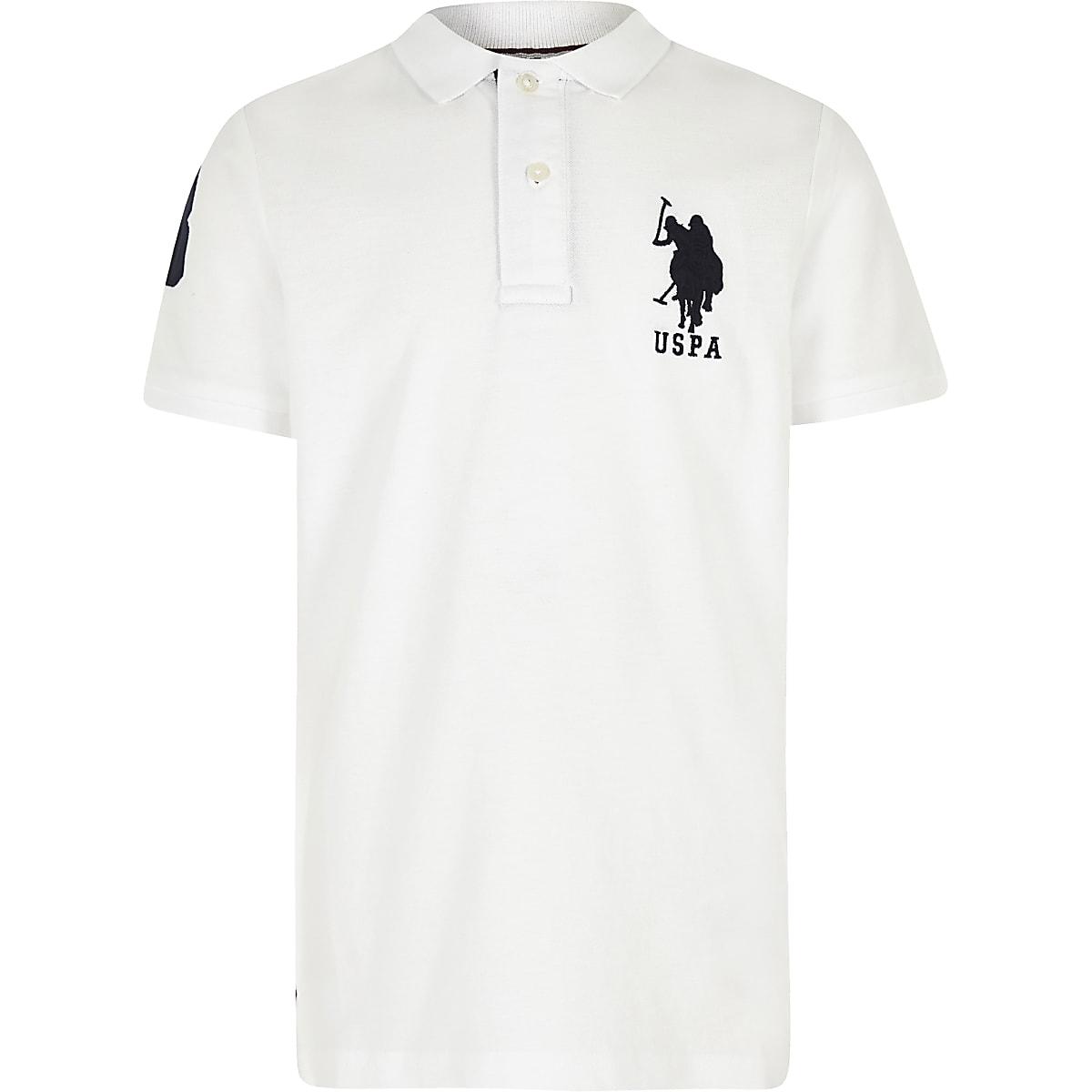 U.S. Polo Assn. – Polo blanc pour garçon