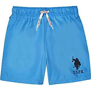 Boys blue U.S. Polo Assn. swim trunks