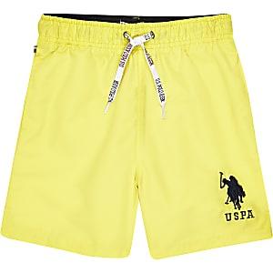 U.S. Polo Assn. - Gele zwemshort voor jongens
