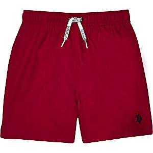 U.S. Polo Assn. - Rode zwemshort voor jongens