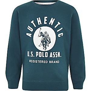 U.S. Polo Assn. ‒ Blaues Sweatshirt