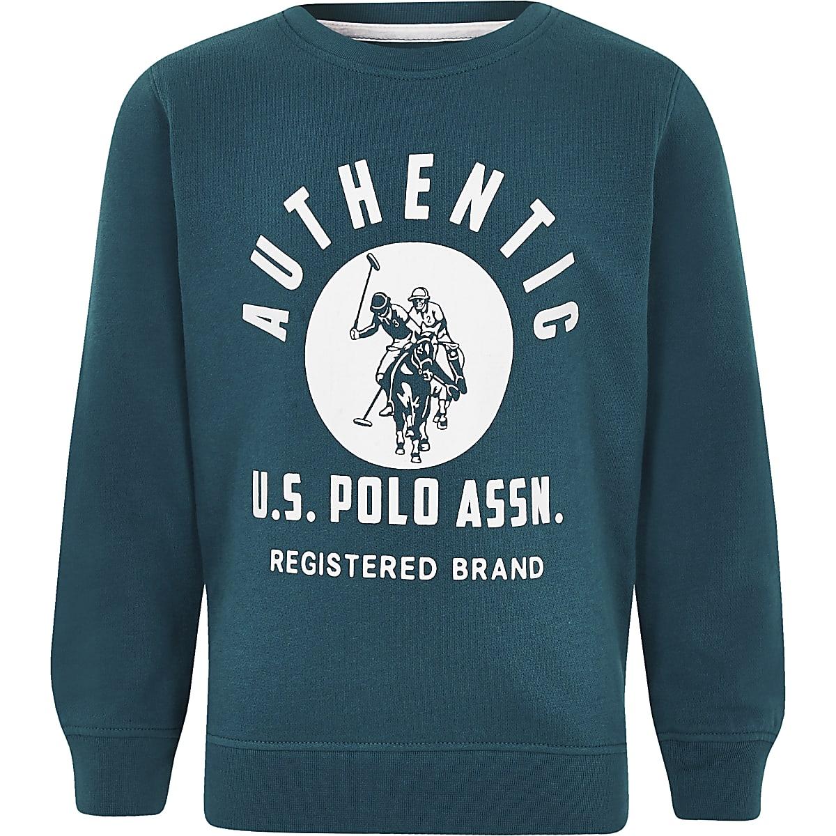 U.S. Polo Assn. – Sweat bleu pour garçon