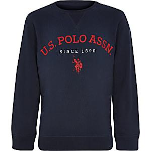U.S. Polo Assn. – Sweat bleu marine pour garçon
