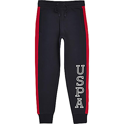 Boys navy U.S. Polo Assn. joggers