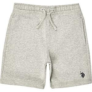 U.S. Polo Assn. - Grijze jersey short voor jongens
