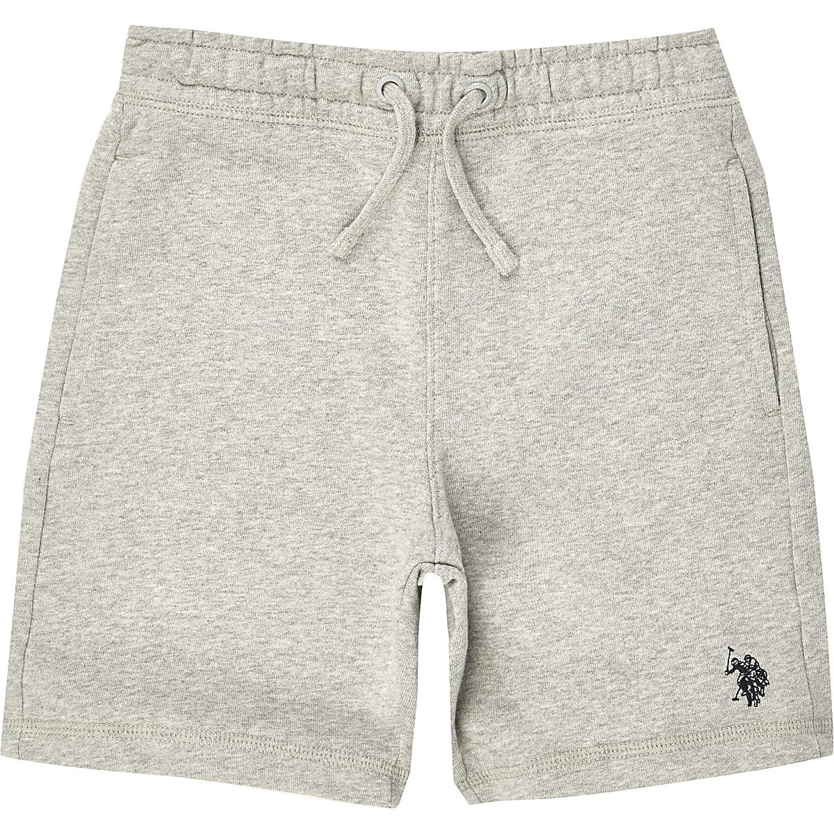 Boys grey U.S. Polo Assn. jersey shorts