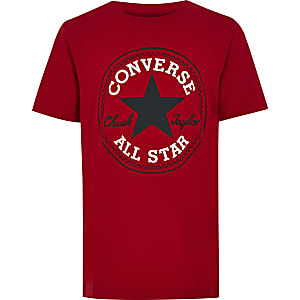 Boys red Converse logo T-shirt