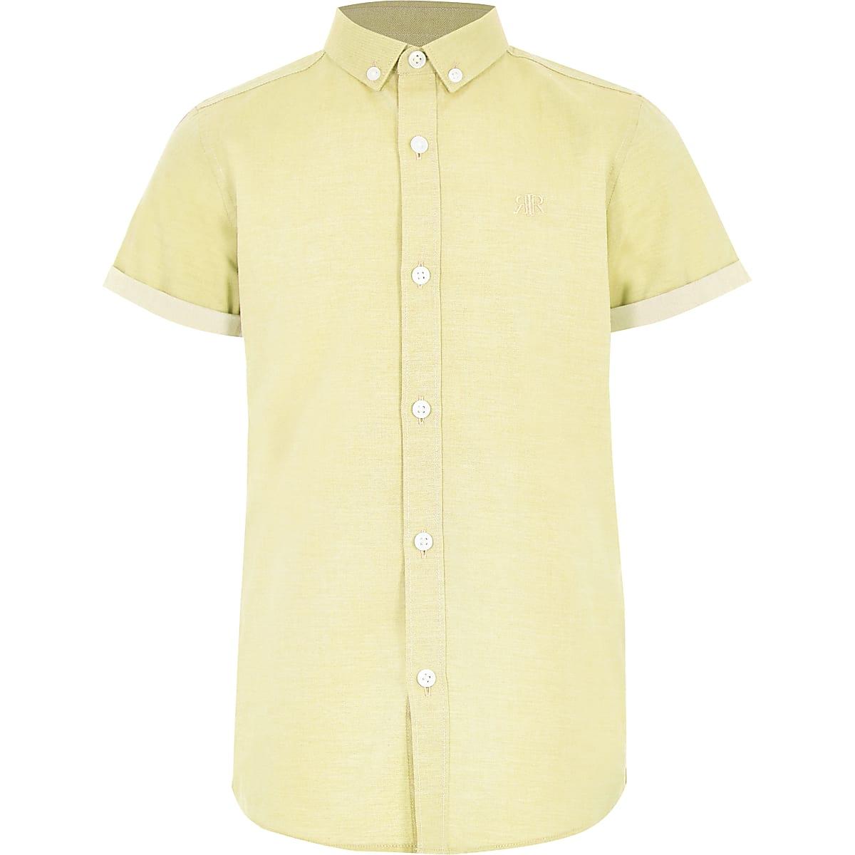 Geel Overhemd.Geel Overhemd Met Ri Logo En Korte Mouwen Voor Jongens Overhemden