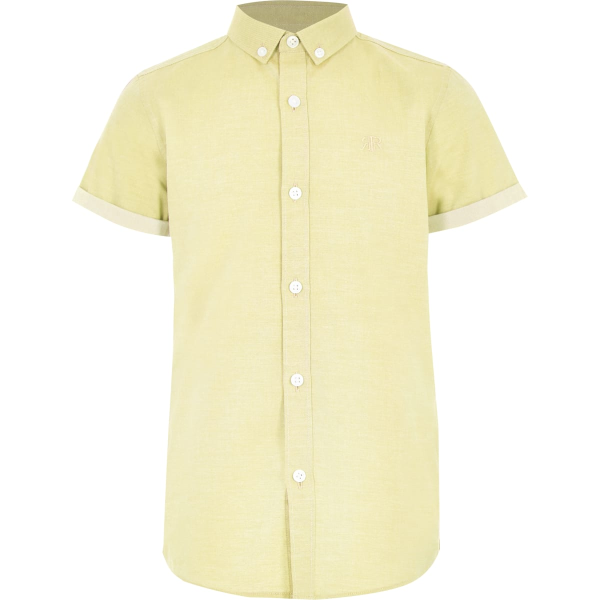 Boys yellow RI short sleeve shirt
