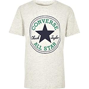 Converse – T-shirt blanc à logo pour garçon