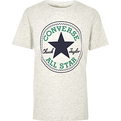 Boys white Converse logo T-shirt