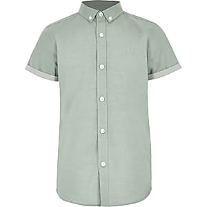 Boys green RI short sleeve shirt