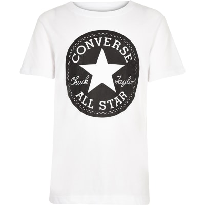 7940f3c39258 Boys white Converse logo print T-shirt - T-shirts - T-Shirts   Vests - boys