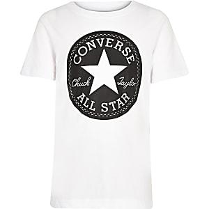 Converse - Wit T-shirt met logoprint voor jongens