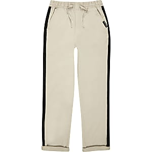 Boys stone straight leg chinos