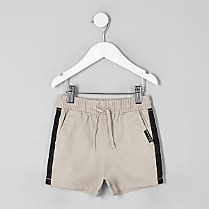 Mini boys stone tape straight shorts
