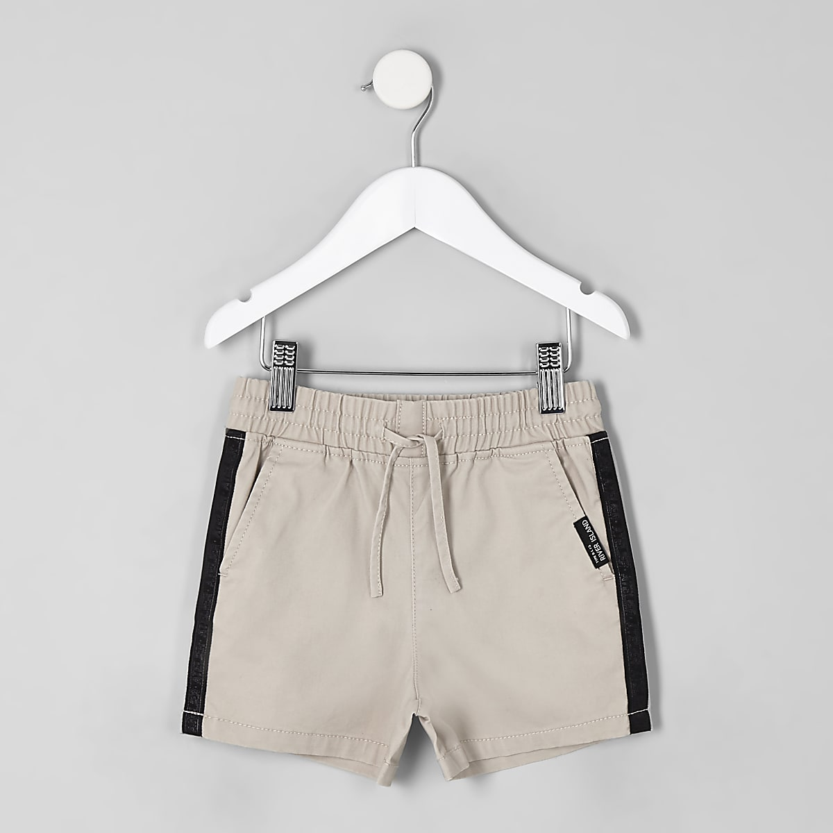Mini boys stone tape straight shorts
