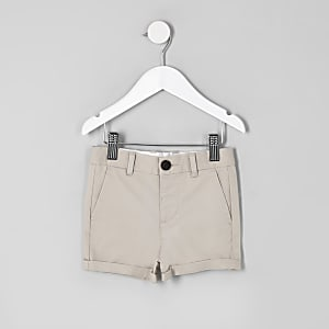 Short chino grège habillé pour garçon