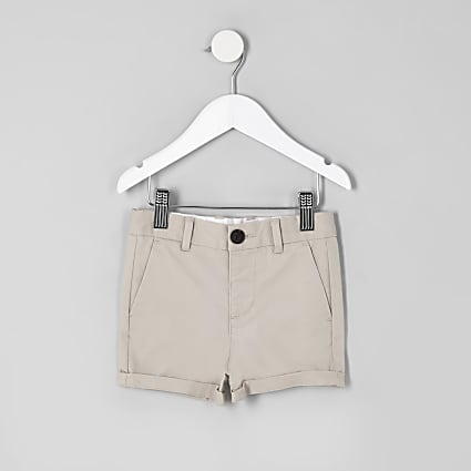 Boys stone smart chino shorts