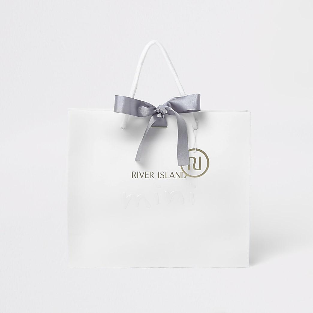 Kids white RI mini gift bag