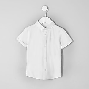 Mini boys white RI short sleeve shirt