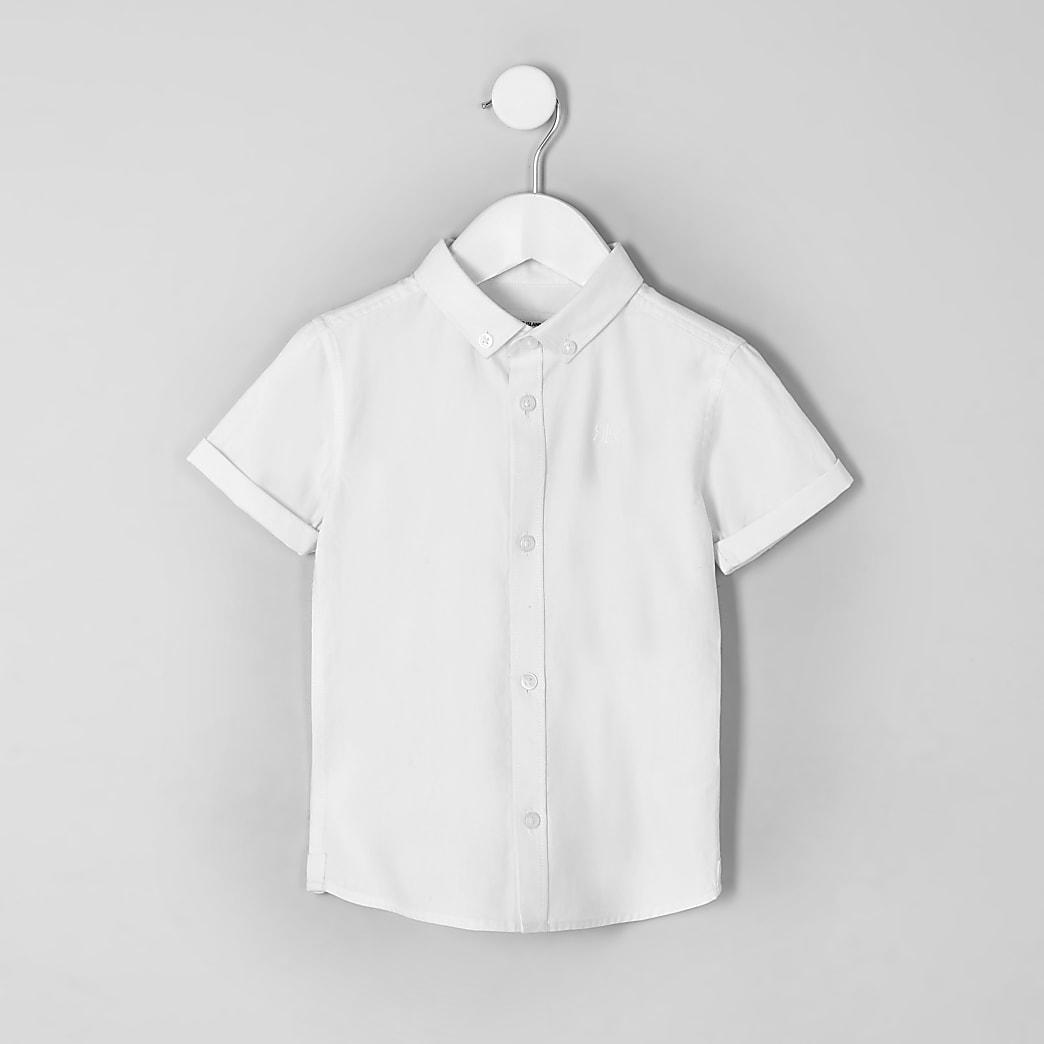 Mini boys white RI short sleeve shirt