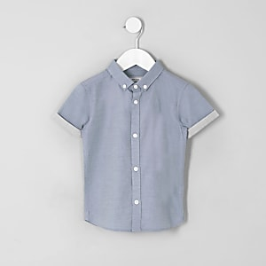 Mini boys blue RI short sleeve shirt
