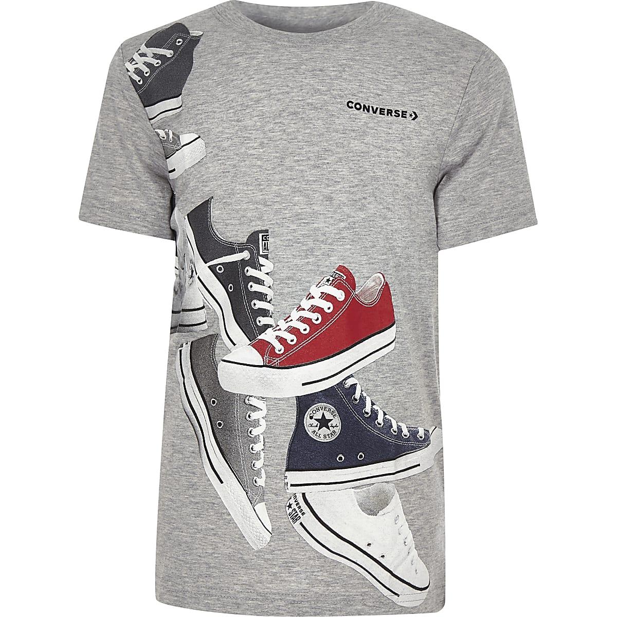 01af7e347987c5 Boys Converse grey print T-shirt - T-shirts - T-Shirts   Vests - boys