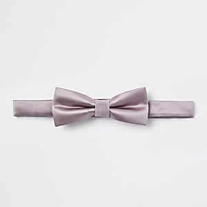Boys pink satin bow tie