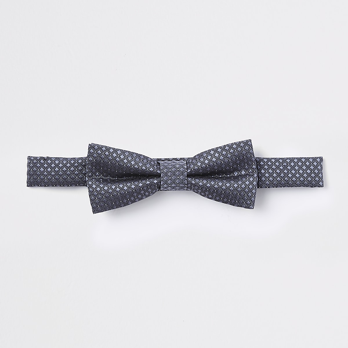 Boys dark grey jacquard bow tie