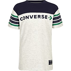 Boys white Converse block T-shirt